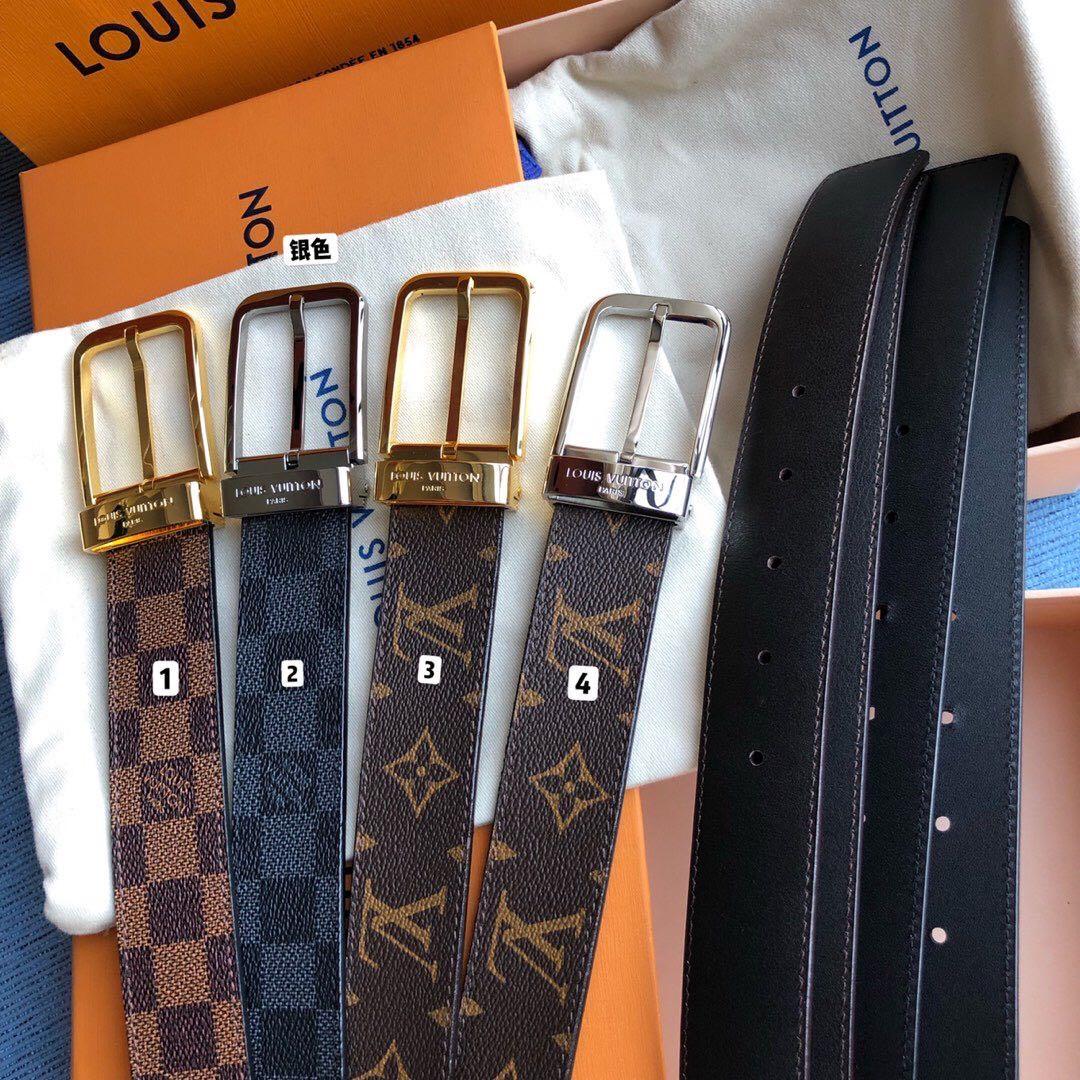 35毫米男士全新入门级款式,丰富了帆布腰带系列。标志性Damier帆布和金属针扣皮带圈上刻有路易威登巴黎英文字样,为经典商务风格增添时尚意味.jpg